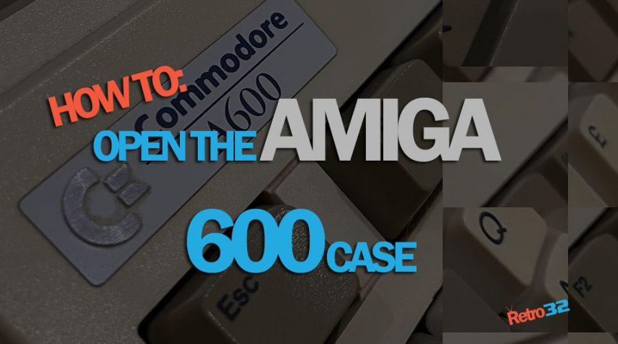 How to open an Amiga 600 case