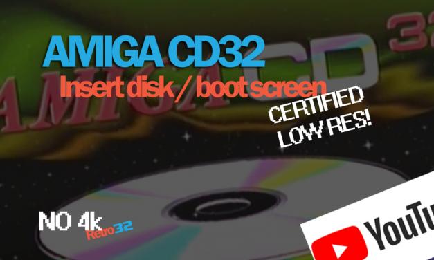 Amiga CD32 Boot Disk loading Screen video