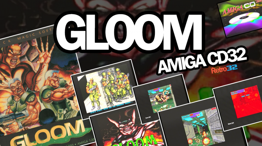 "Gloom Amiga CD32 – 1995 Black Magic Software – Doom ""clone"" – Messy mode"