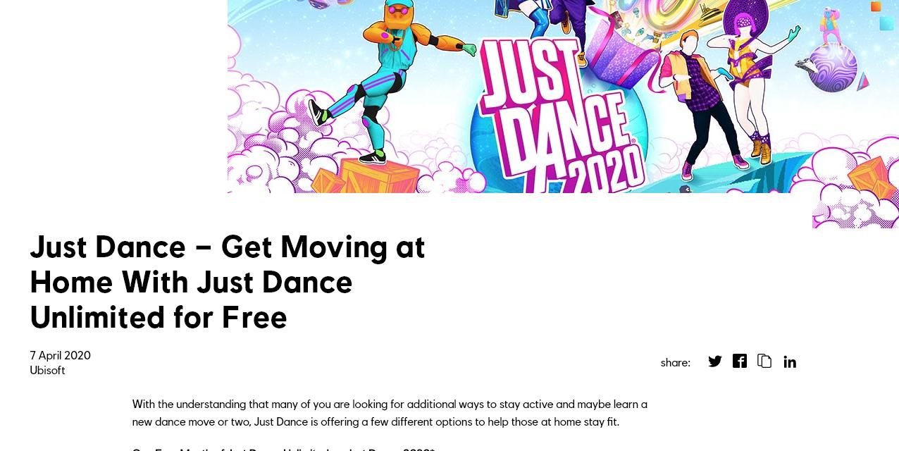 アンリミテッド ジャスト ダンス 2020