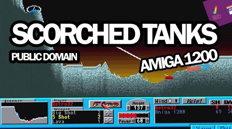 Scorched Tanks V1.90 – 1994 Dark Unicorn – Amiga Public Domain Game
