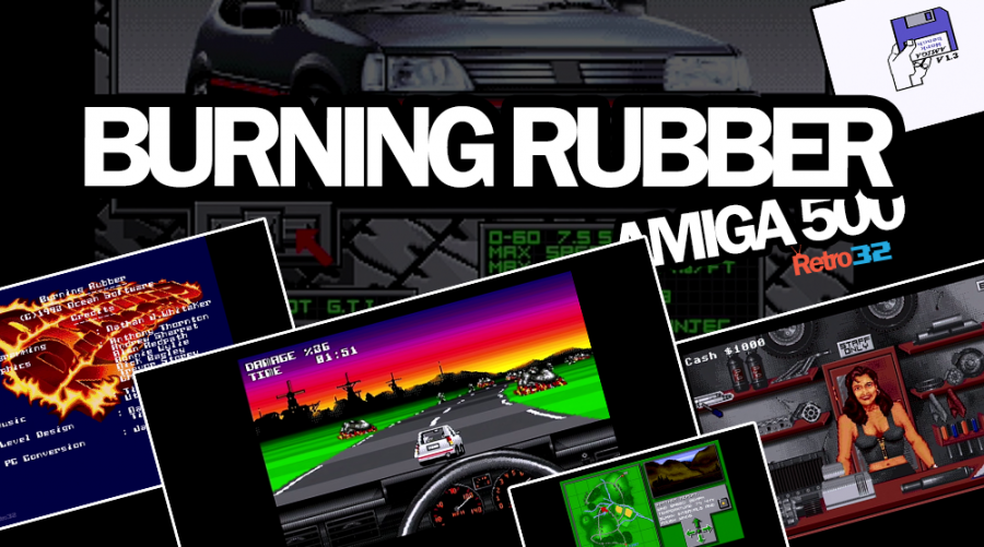 Burning Rubber – Amiga 500 – 1993 Harlequin / Ocean Software