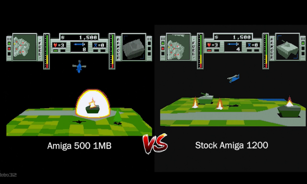 Zeewolf 2: Wild Justice – Amiga 500 vs Amiga 1200 FPS / Speed comparison