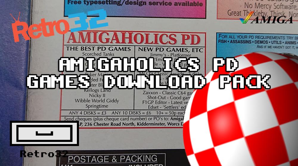 AMIGAHOLICS PD Public Domain Games Download Pack (ADF) GOTEK