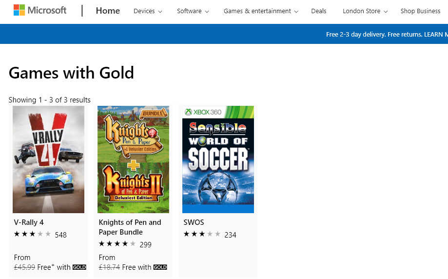 "Sensible World of Soccer SWOS Free on Xbox ""Games with Gold"" until May 15th"