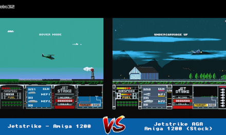 Jetstike vs Jetstrike AGA  – Amiga 1200  – Side by side comparison