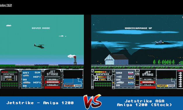 Jetstike vs Jetstrike AGA  – Amiga 1200  – Side by side comparison