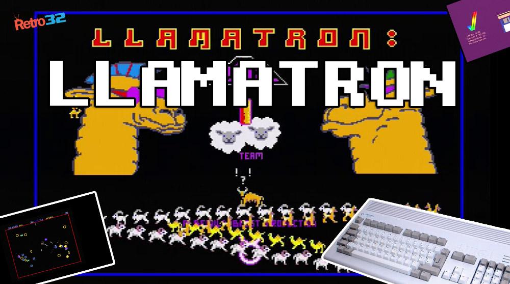 Llamatron – Amiga shareware –  Jeff Minter Llamasoft 1991 – Amiga 1200
