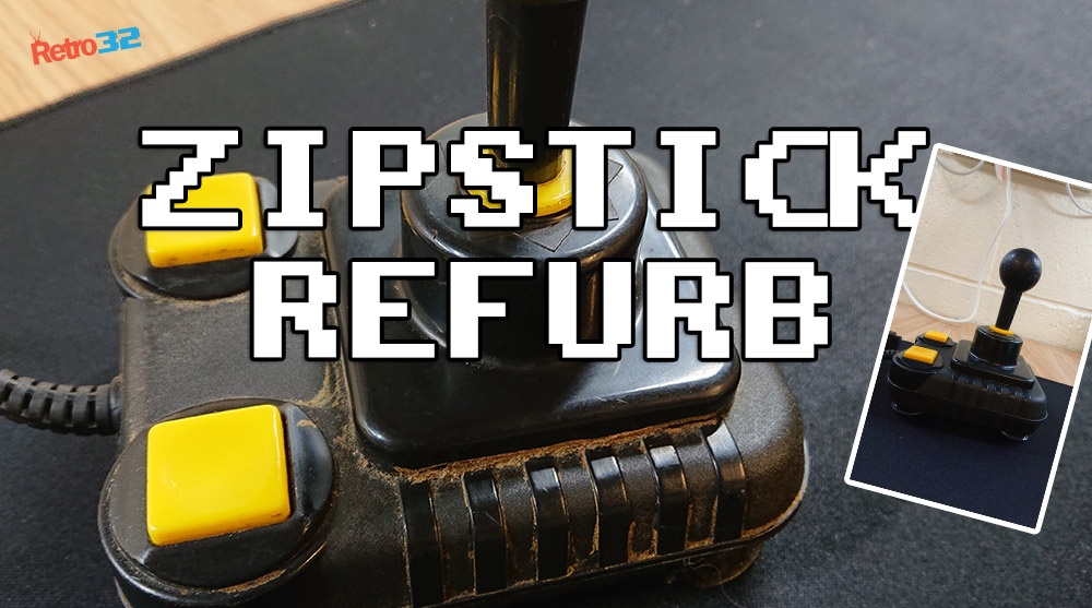 Staff Project: Grotty and Abused Zipstick Joystick refurbishment