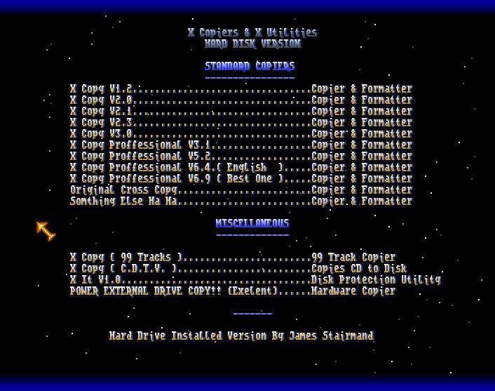 AMIGA DOWNLOAD: X-Copiers & X Utility Hard Disk Version – ADF Download (Amiga Power Menu)