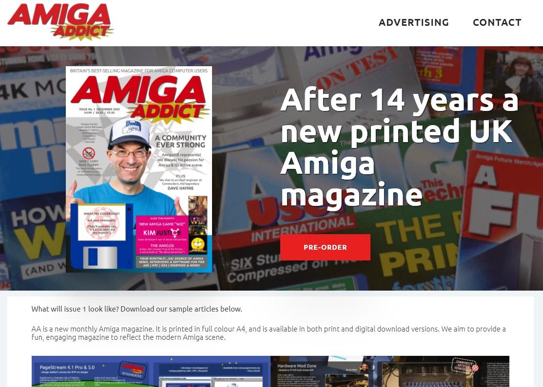 New monthly UK Amiga Magazine coming soon! Amiga Addict