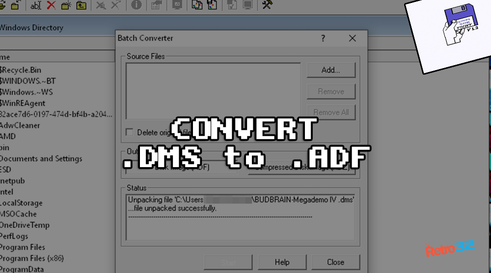 AMIGA: How to convert DMS to ADF