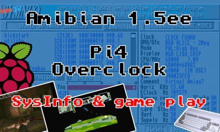 Is it worth overclocking your Amiga Amibian Raspberry Pi 4? Performance comparison SysInfo AmiQuake