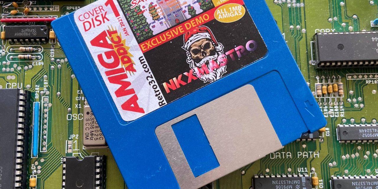 Retro32 Amiga Addict Cover disk label