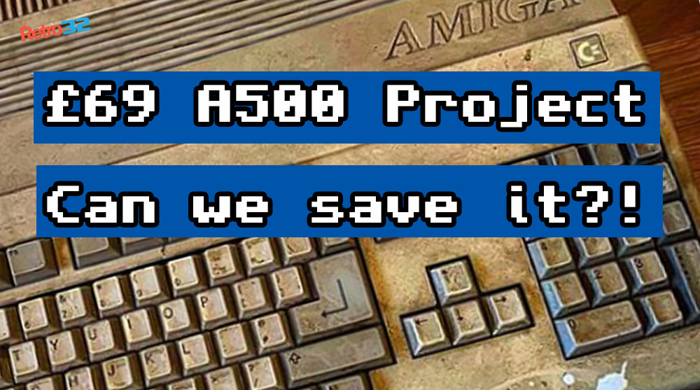 First impressions and boot of our £69 Amiga 500 eBay project. Can we save it?