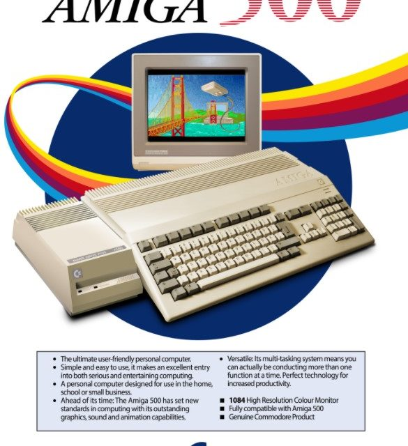 Check out these beautifully recreated retro Amiga posters & original Amiga artwork