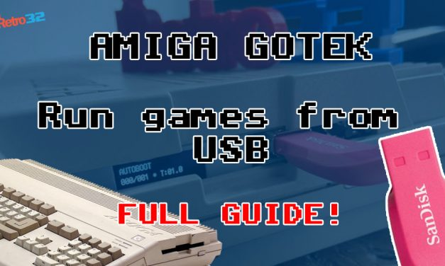 Amiga GOTEK Video Tutorial – How to run and save games from USB – Setup – Flash Floppy Menu