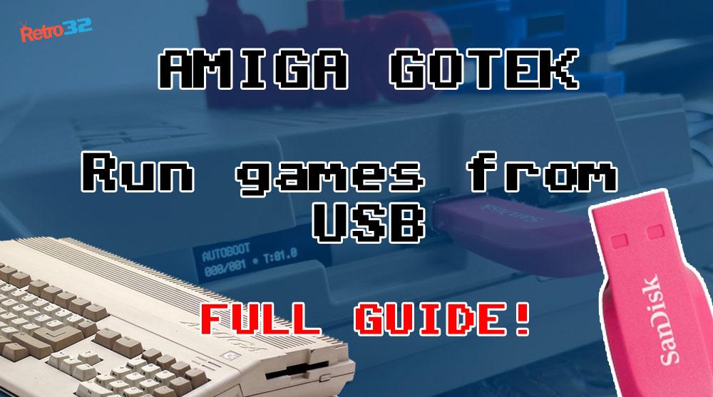 Amiga GOTEK Video Tutorial – How to run and save games from USB – Setup – Flash Floppy Menu