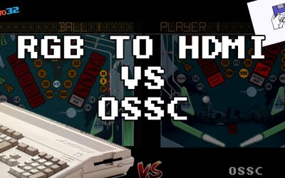 Amiga 500 – RGB to HDMI Adapter vs OSSC Comparison – Side by Side