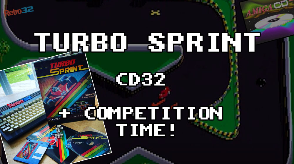 Turbo Sprint AGA first play on Amiga CD32 – Competition Time