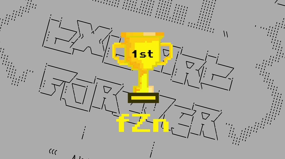 """Our boy FuZioN scores first place in Flashparty 2021 """"Text Art"""" ASCII Compo!!"""